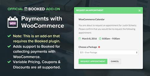 CodeCanyon - Booked Payments with WooCommerce (Add-On) v1.3 - 12824257