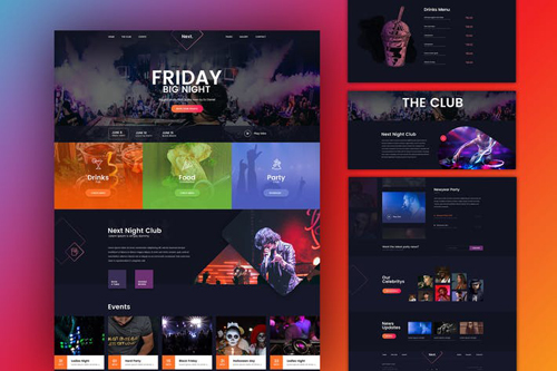 Friday Night DJ Club Music Party Celerity Template
