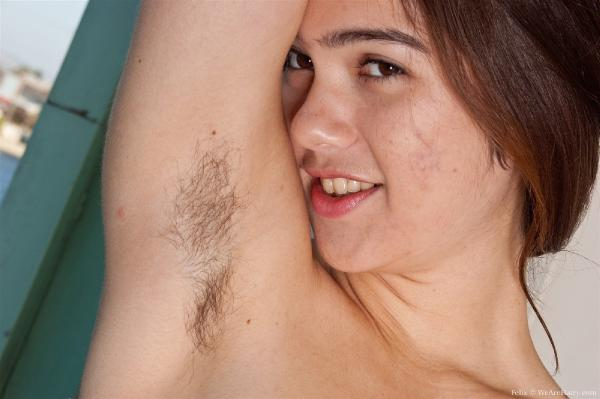 Hairy naked obese Women