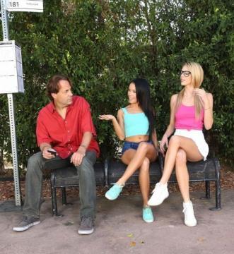 Megan Rain, Blake Eden - Bus Stop Lust (2016) HD 720p