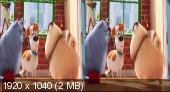 Тайная жизнь домашних животных 3D / The Secret Life of Pets 3D Горизонтальная анаморфная стереопара