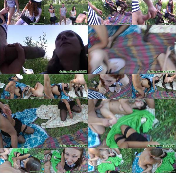Amateur nt babes group fucked outdoors