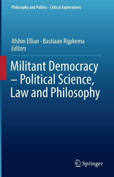 Militant Democracy - Political Science, Law and Philosophy