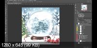Делаем новогодний шар с фото в Photoshop (2019)