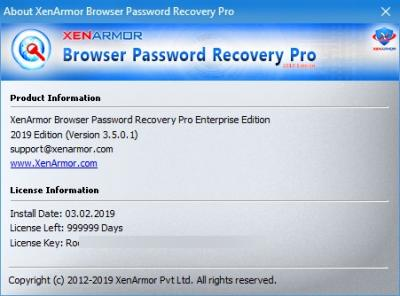 Browser Password Recovery Pro Enterprise Edition 3 5 0 1